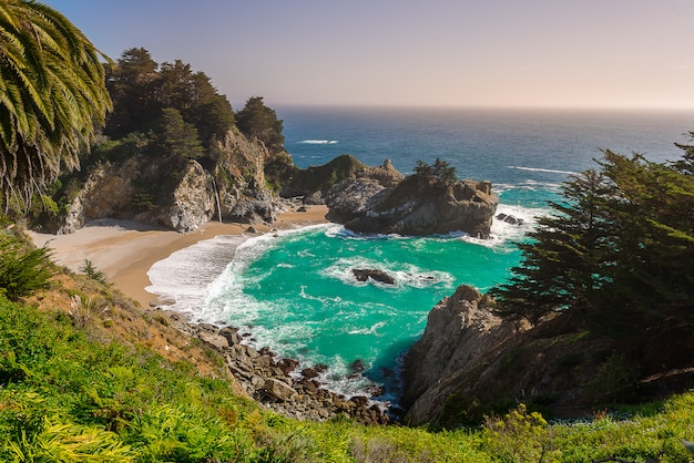 Mcway fall on highway 1 california