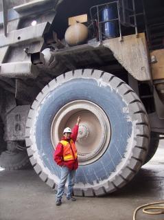 Me sul camion raggio pneumatico