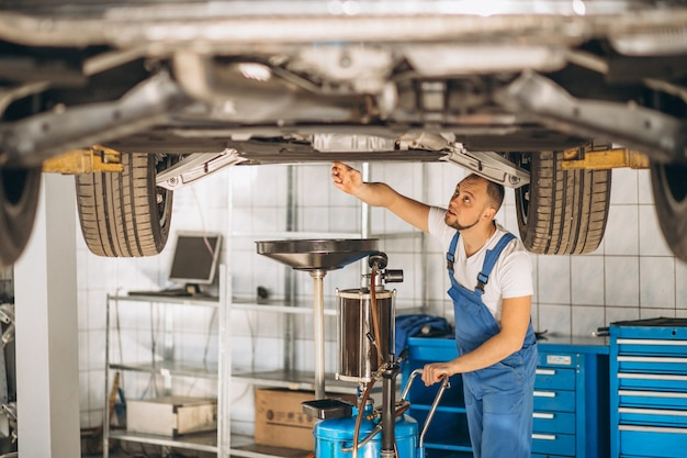 Meccanico auto controllo auto