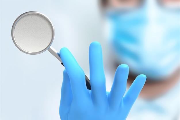 Medico che tiene uno stetoscopio in mano