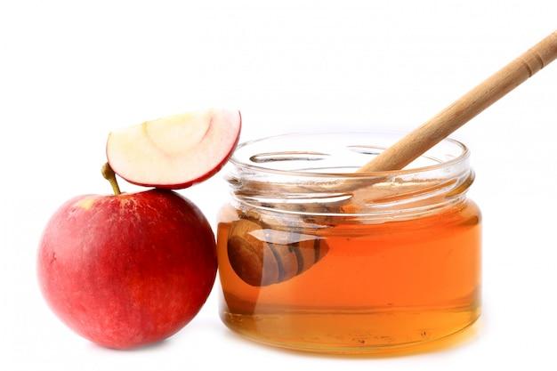 Mela e miele isolati
