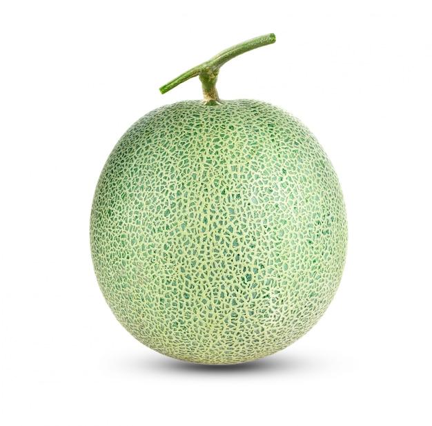 Melone del cantalupo isolato su bianco