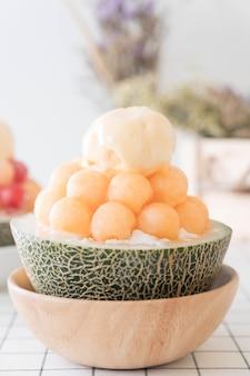 Melone di ghiaccio bingsu, famoso gelato coreano