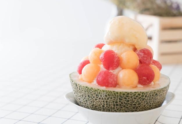 Melone di ghiaccio bingsu