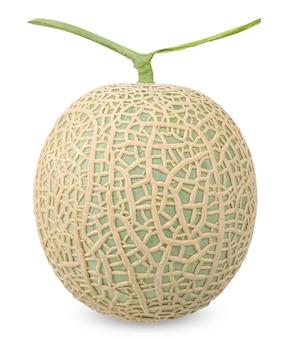 Melone isolato su bianco con tracciato di ritaglio