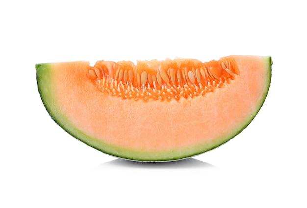 Melone isolato su sfondo bianco