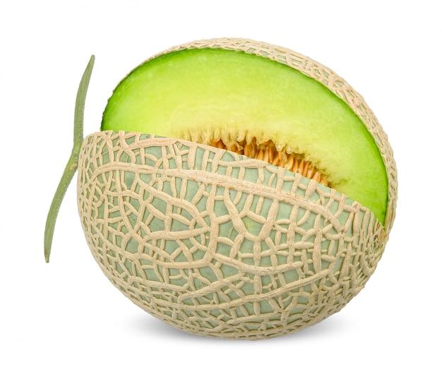 Melone isolato sul percorso di ritaglio bianco