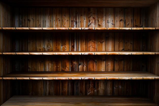 Mensola di legno vuota