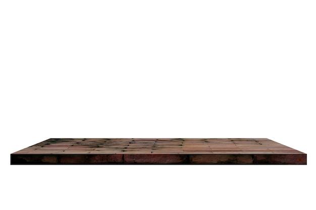 Mensola di mattoni su backgorund bianco.
