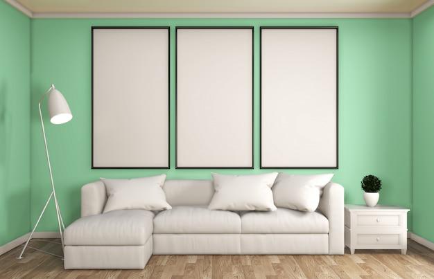 Menta stile soggiorno decorazione giapponese