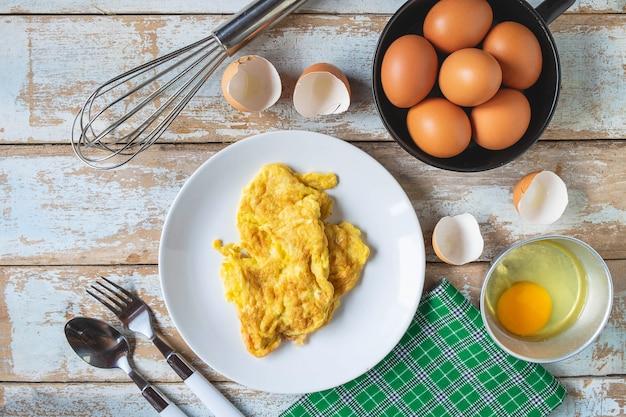 Menu di omelette cotte