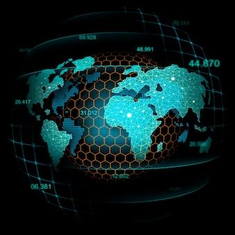 Mercato azionario o forex trading grafico nel concetto futuristico