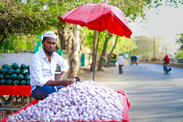 Mercato di strada indiano