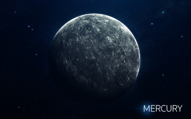 Mercurio - pianeti del sistema solare in alta qualità. carta da parati scientifica.