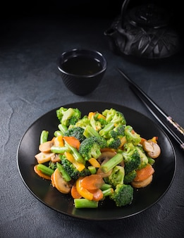 Mescolare le verdure fritte
