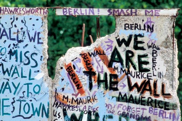 Messaggi sul muro di berlino