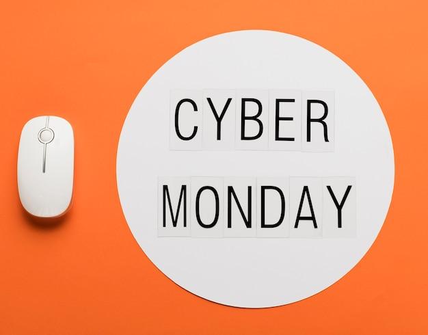 Messaggio del cyber lunedì con il mouse