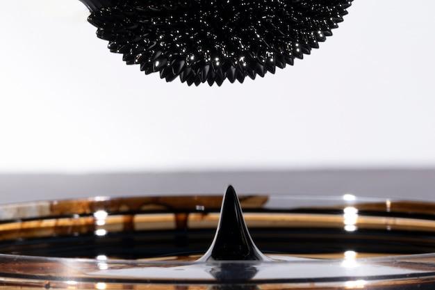 Metallo a specchio ferromagnetico astratto sottosopra