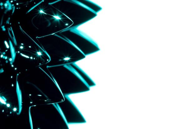 Metallo liquido ferromagnetico del primo piano con lo spazio della copia