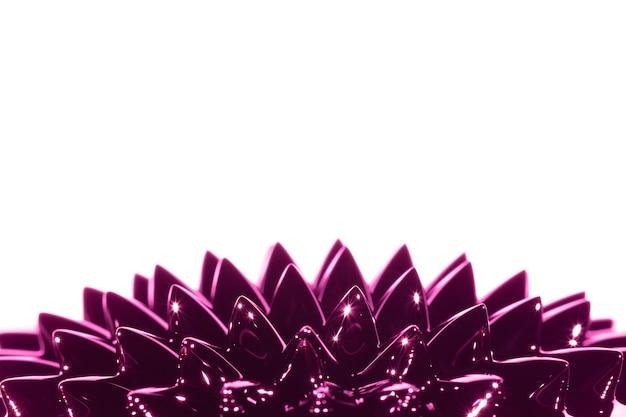 Metallo liquido ferromagnetico viola con spazio di copia