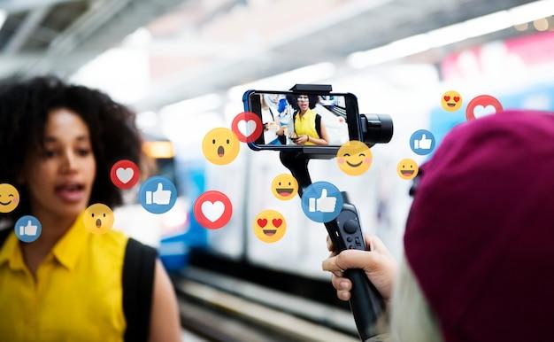 Mi piace sui social media