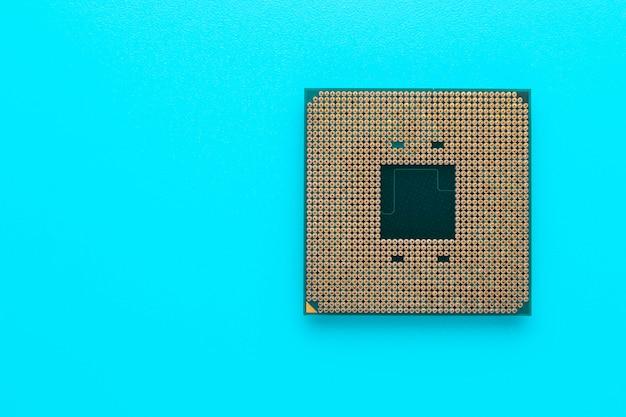 Microchip del computer. processore, cpu.