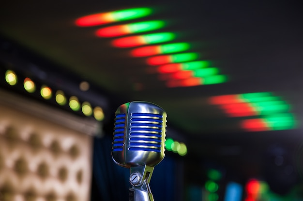 Microfono retrò al concerto