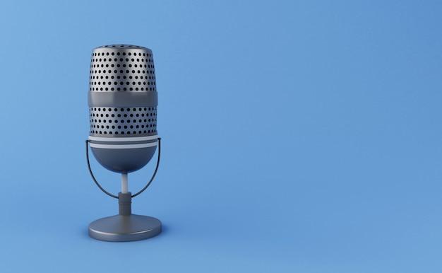 Microfono vintage 3d