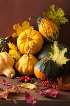 Mini foglie di autunno decorative delle zucche per il ringraziamento di halloween