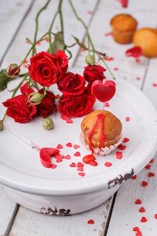 Mini muffin simbolo di festa di san valentino.