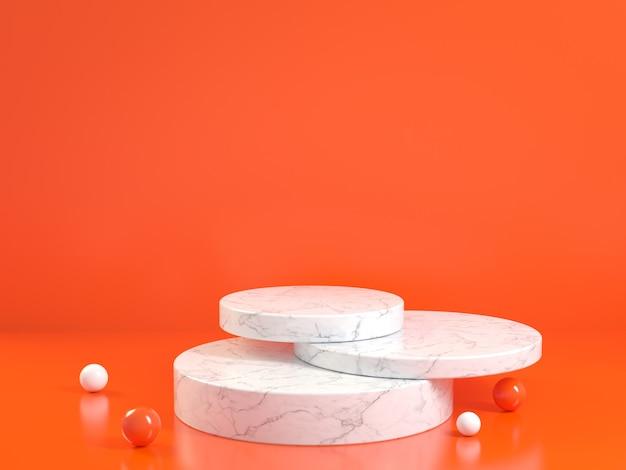 Minimo podio in marmo pulito, rendering 3d.