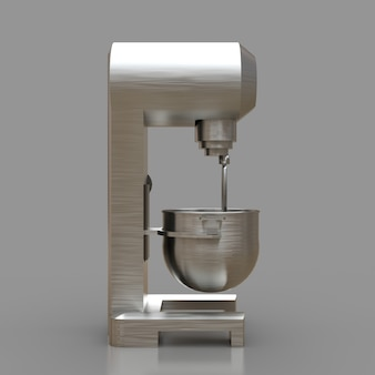 Mixer professionale per ristoranti, caffè e pasticcerie. rendering 3d.
