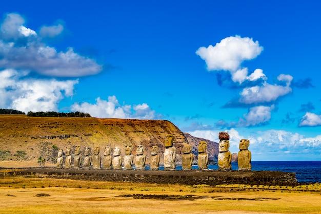 Moai sull'isola di pasqua
