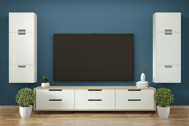 Mobile tv in stile zen moderno stanza vuota janapese stile minimal