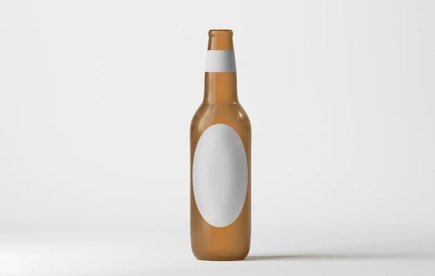 Mock up di una bottiglia di vetro