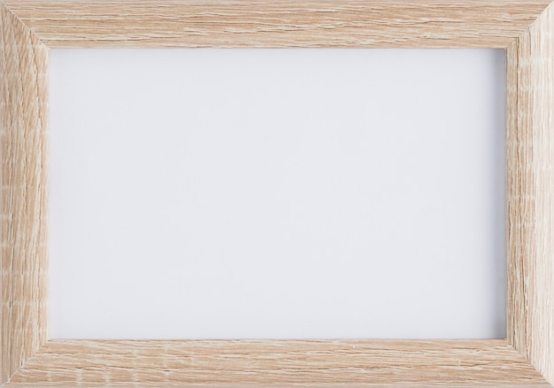 Mock-up minimalista con cornice in legno