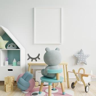 Mock up poster nell'interno della stanza del bambino