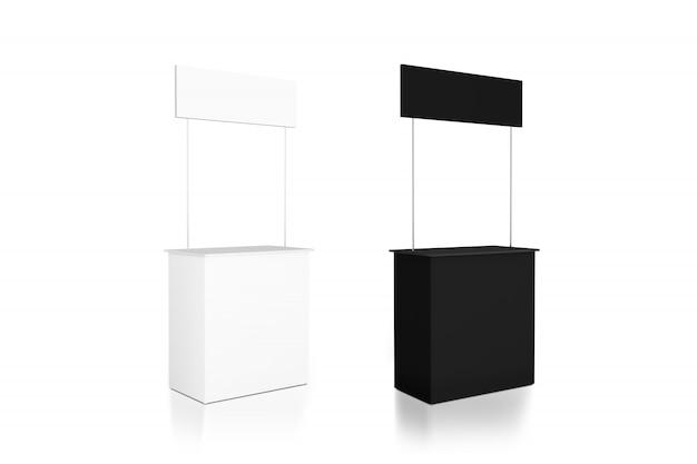 Mockup del contatore promozionale bianco e nero vuoto