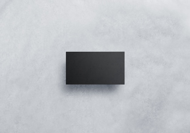 Mockup di biglietto da visita nero bianco