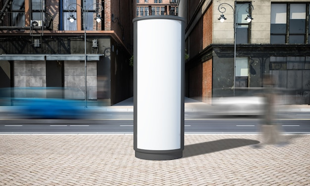 Mockup di billboad di pubblicità di strada