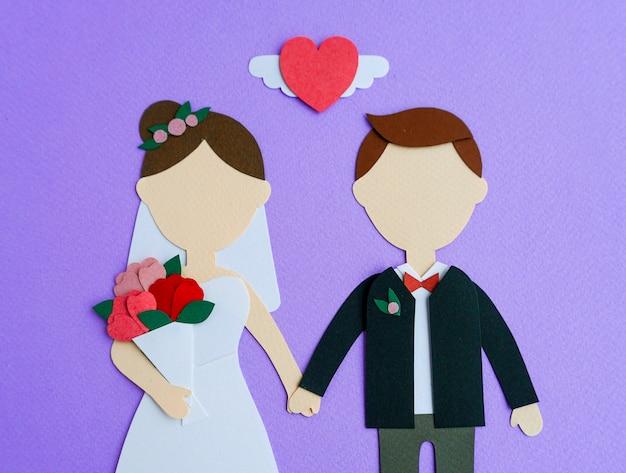 Mockup di carta amante coppia di san valentino