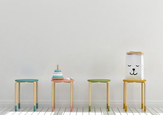 Mockup di sala giochi per bambini