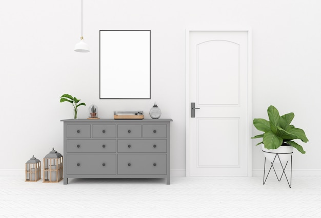 Mockup interno - scena commode
