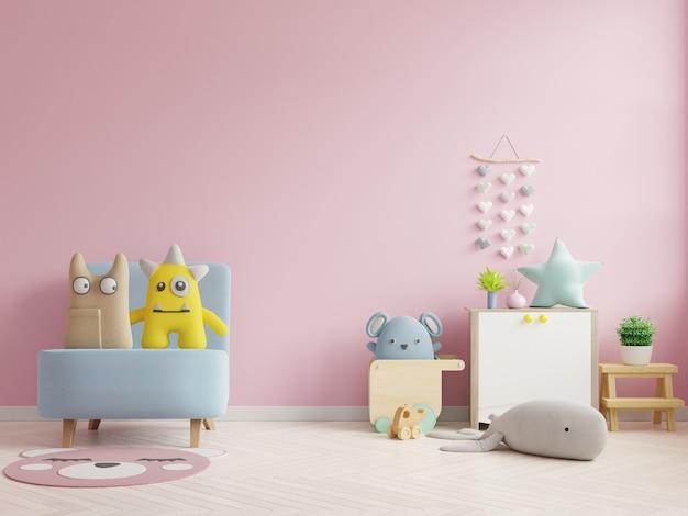 Mockup wall nella stanza dei bambini