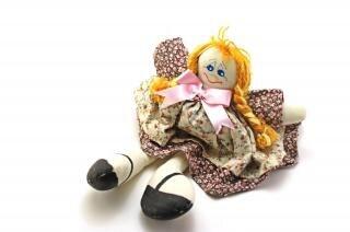 Moda bambola fatta a mano, straccio