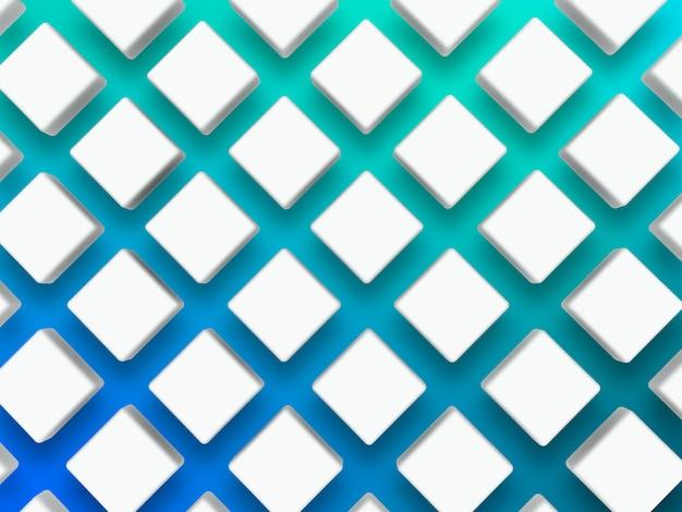Modello 3d con forma di diamante sul blu