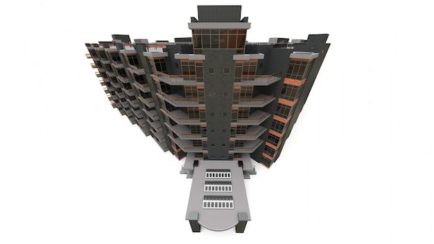 Modello 3d condominiale