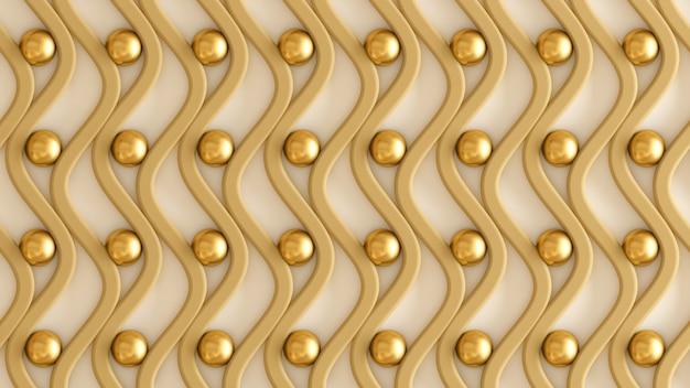 Modello architettonico, interno, bianco, giallo, oro trama muro. rendering 3d.