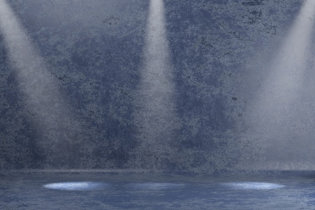 Modello astratto della sfuocatura del graffio della parete con i riflettori resi