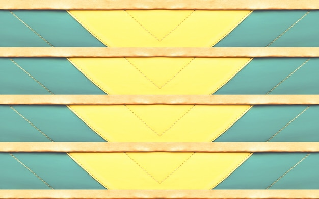 Modello astratto di cuoio blu, marrone e giallo variopinto, fondo di progettazione dell'insegna